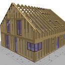 Umplanung von Massivhäusern zu Holzrahmenhäusern