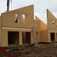 Lieferung von Holzrahmenhäusern